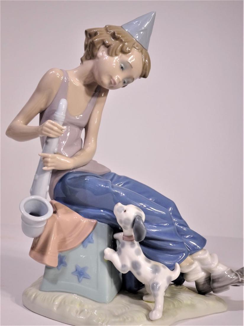 Lladro 'Clown with Saxophone' Figure