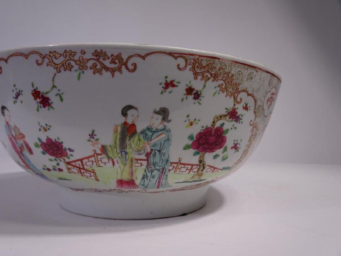 19th C. Chinese Export Porcelain Punch Bowl - 4
