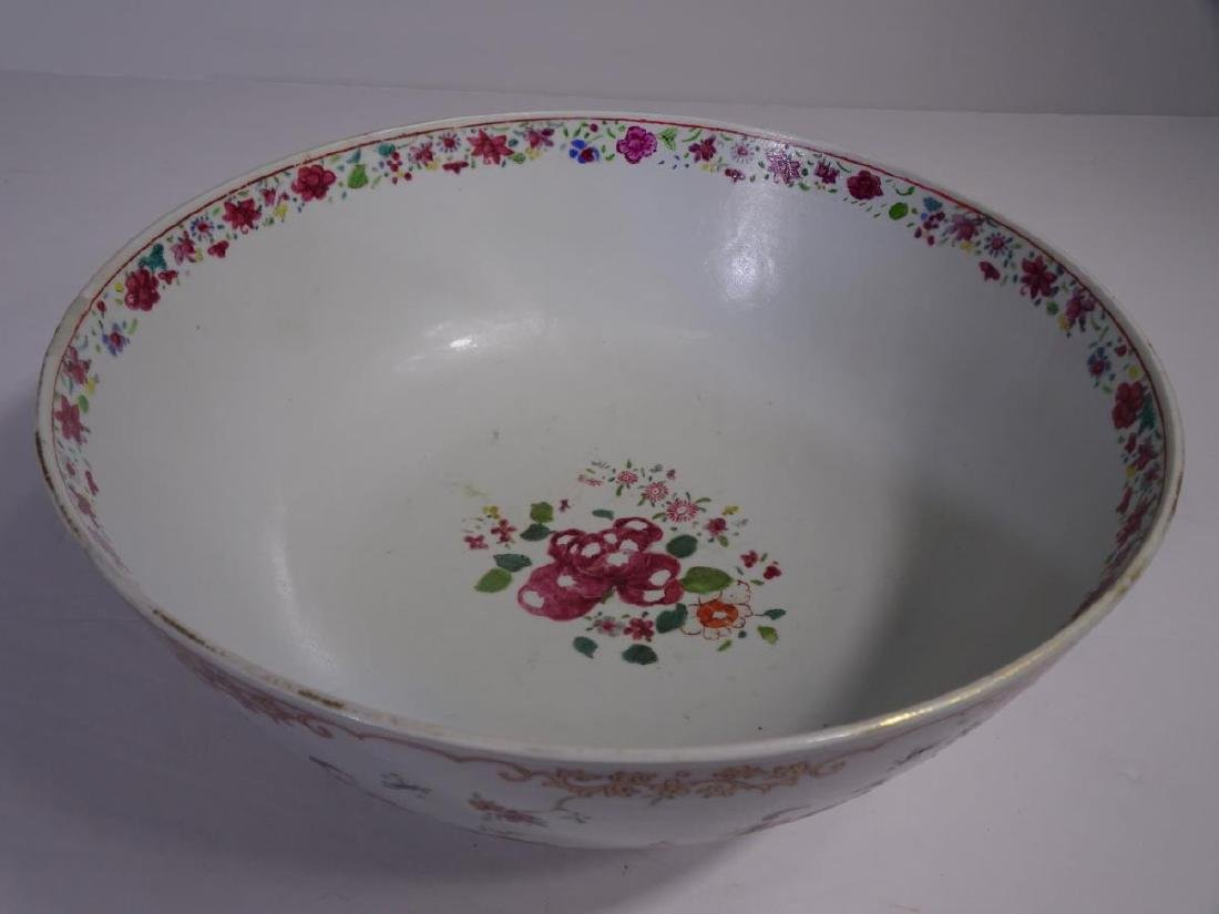 19th C. Chinese Export Porcelain Punch Bowl - 5