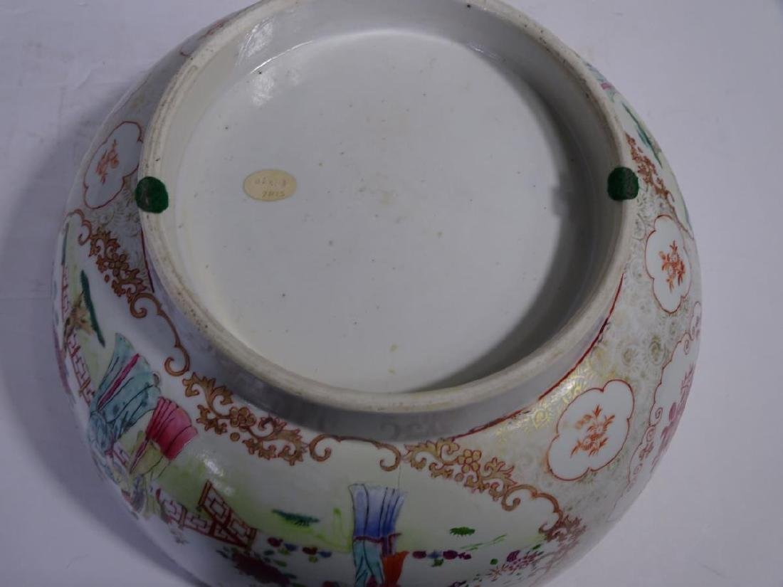 19th C. Chinese Export Porcelain Punch Bowl - 7