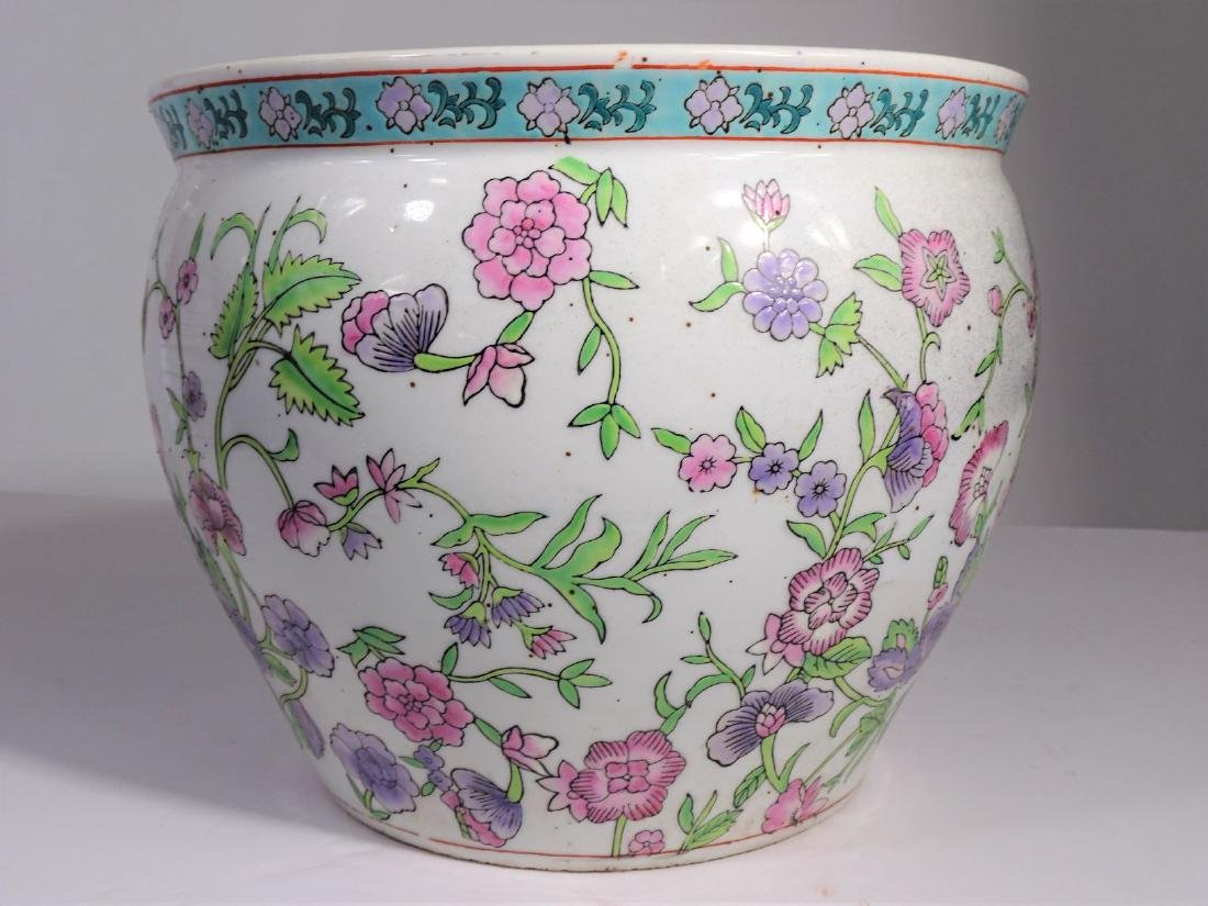Large Chinese Koi Porcelain Fish Bowl