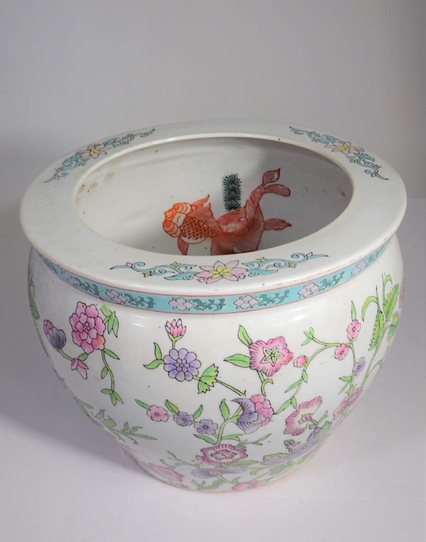 Large Chinese Koi Porcelain Fish Bowl - 5
