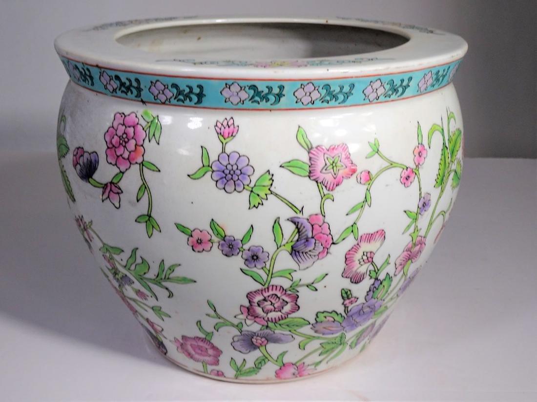 Large Chinese Koi Porcelain Fish Bowl - 6