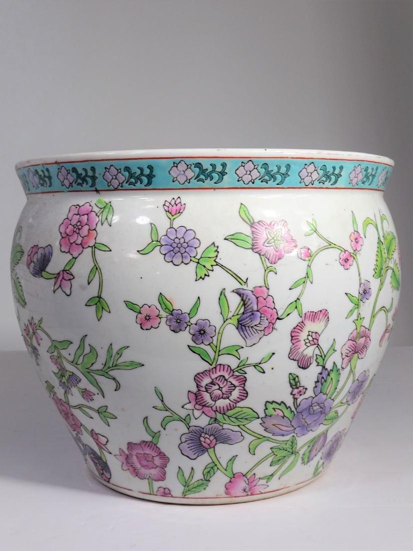 Large Chinese Koi Porcelain Fish Bowl - 7