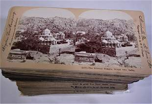 73 Stereoview Cards from India early 1900s