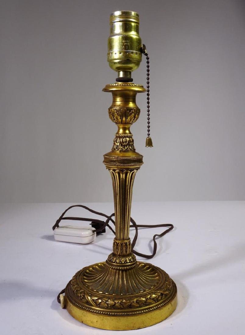 French Bronze 19th Century Gilt Table Lamp