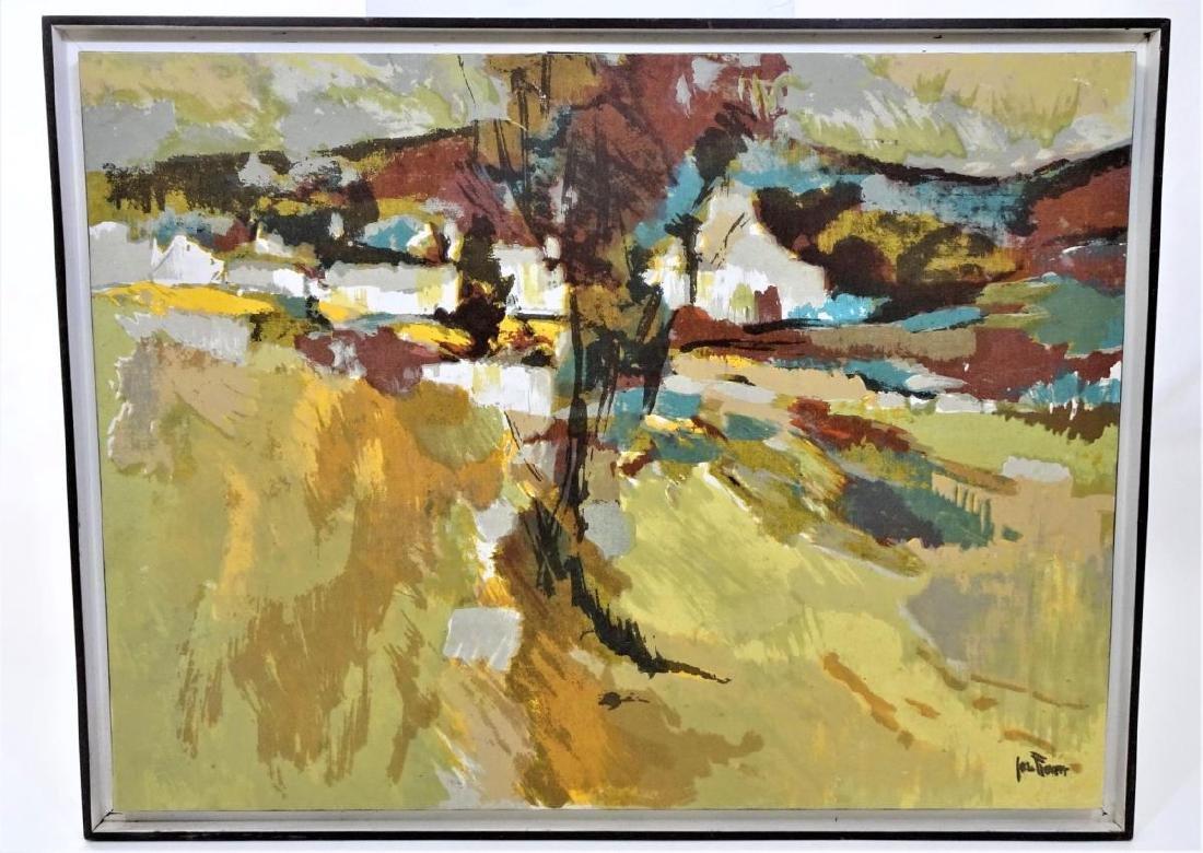Signed Batik Landscape, Oil on Canvas