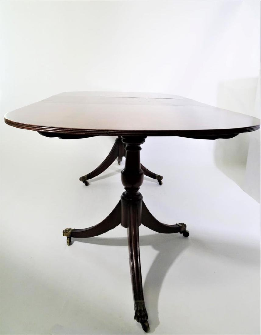 Magnificent Antique Oval Double Pedestal Dining Table W Leaf Home Interior And Landscaping Oversignezvosmurscom