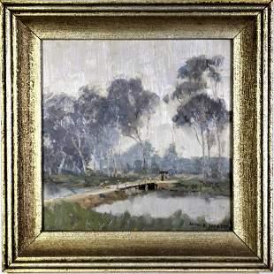 James R. Jackson (1882-1975), Oil on Board