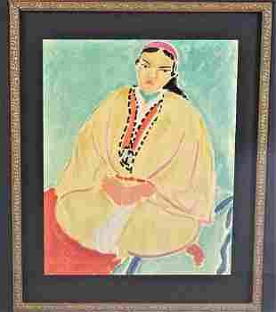 "Henri Matisse (1869-1954) ""Zora. La Robe Juane"""