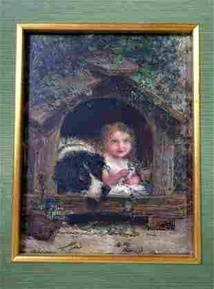 "Joseph Henry Sharp  (1859 - 1953) ""The Dog House"""
