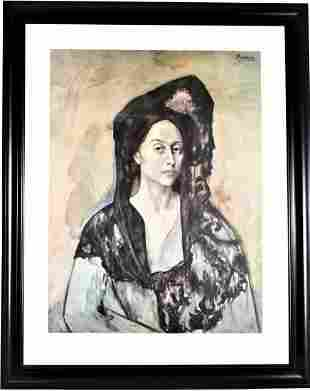 "Pablo Picasso  ""Madame Ricardo Canales"" Lithograph"