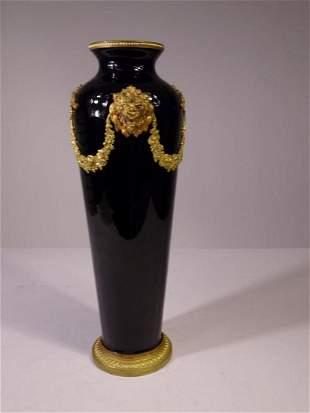 French Gilt & Cobalt Vase