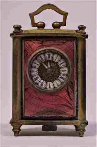 Early Swiss Enamel Travel Clock