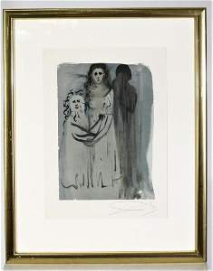 Salvador Dali (1904-1989) Spanish,Signed Woodblock