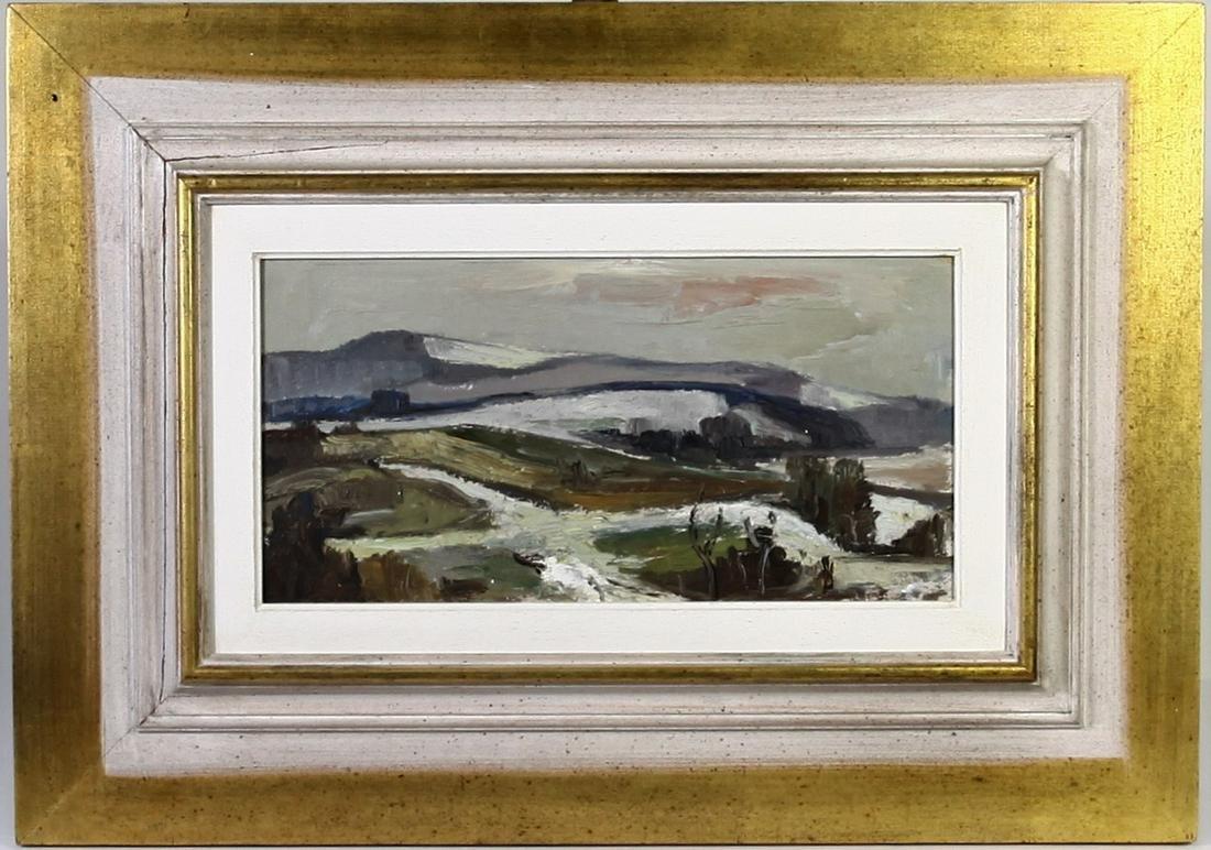 Javurek, Czech Landscape, Oil on Board