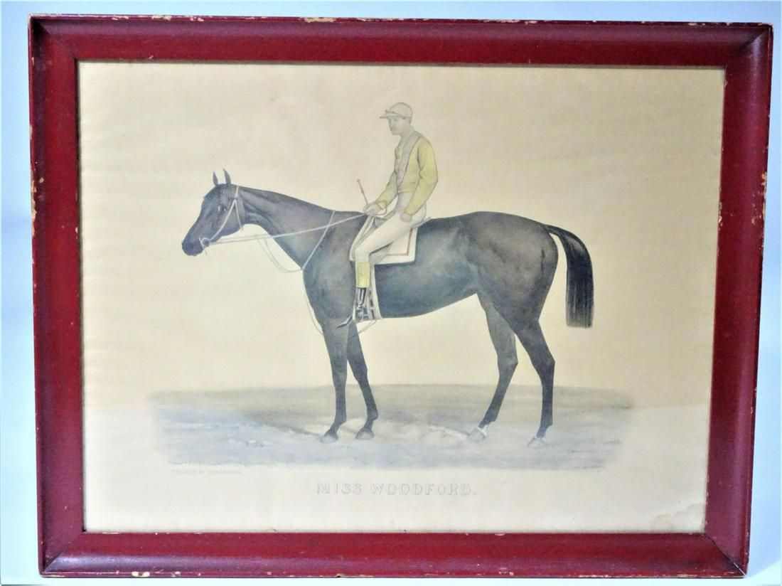 1884 Currier & Ives Race Horse Lithograph