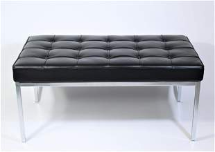 Knoll Barcelona Leather Bench