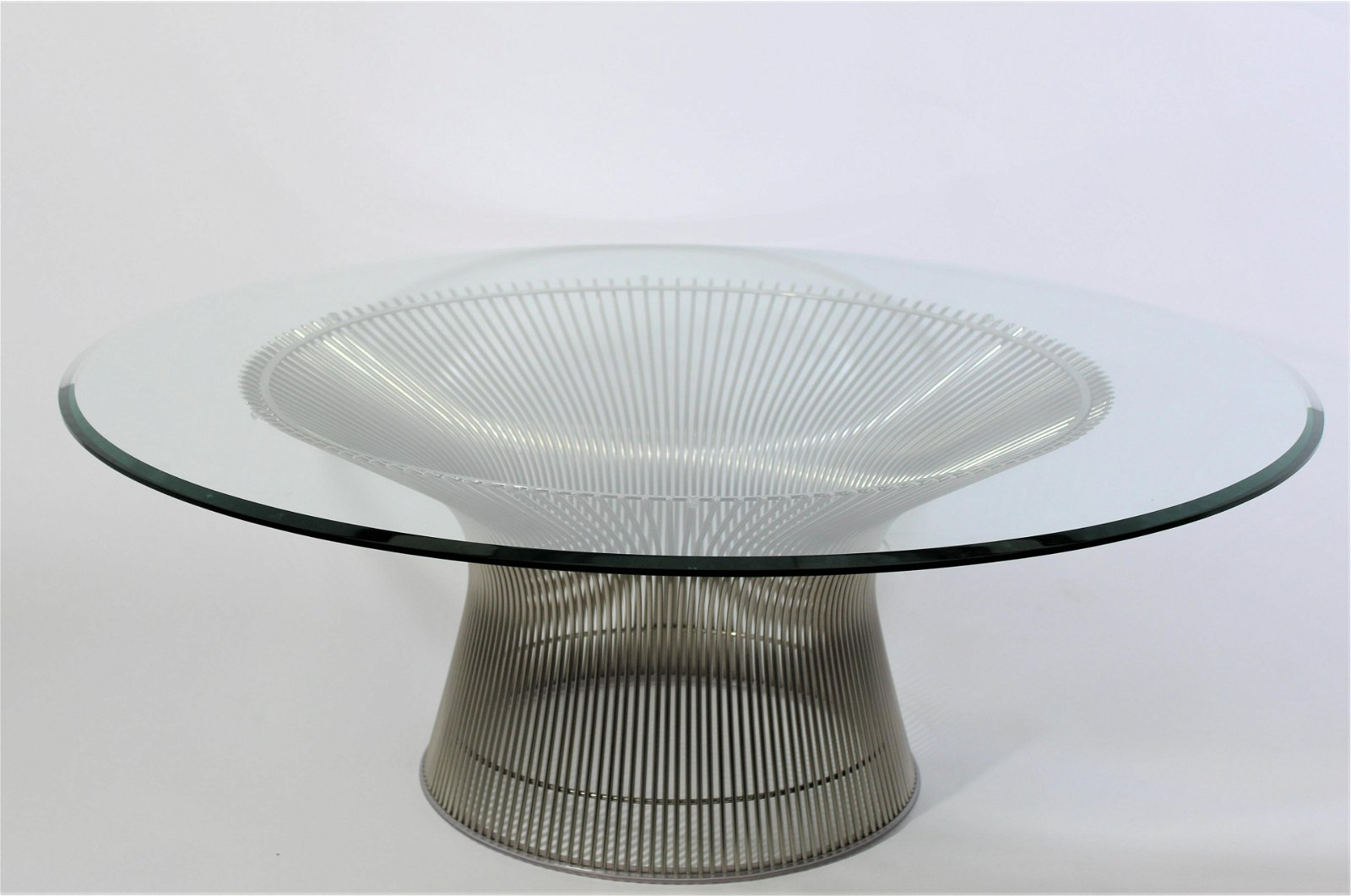 Warren Platner for Knoll Glass Top Coffee Table
