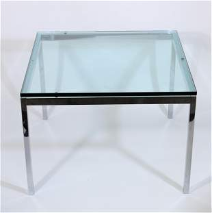 Florence Knoll Chrome & Glass Side Table