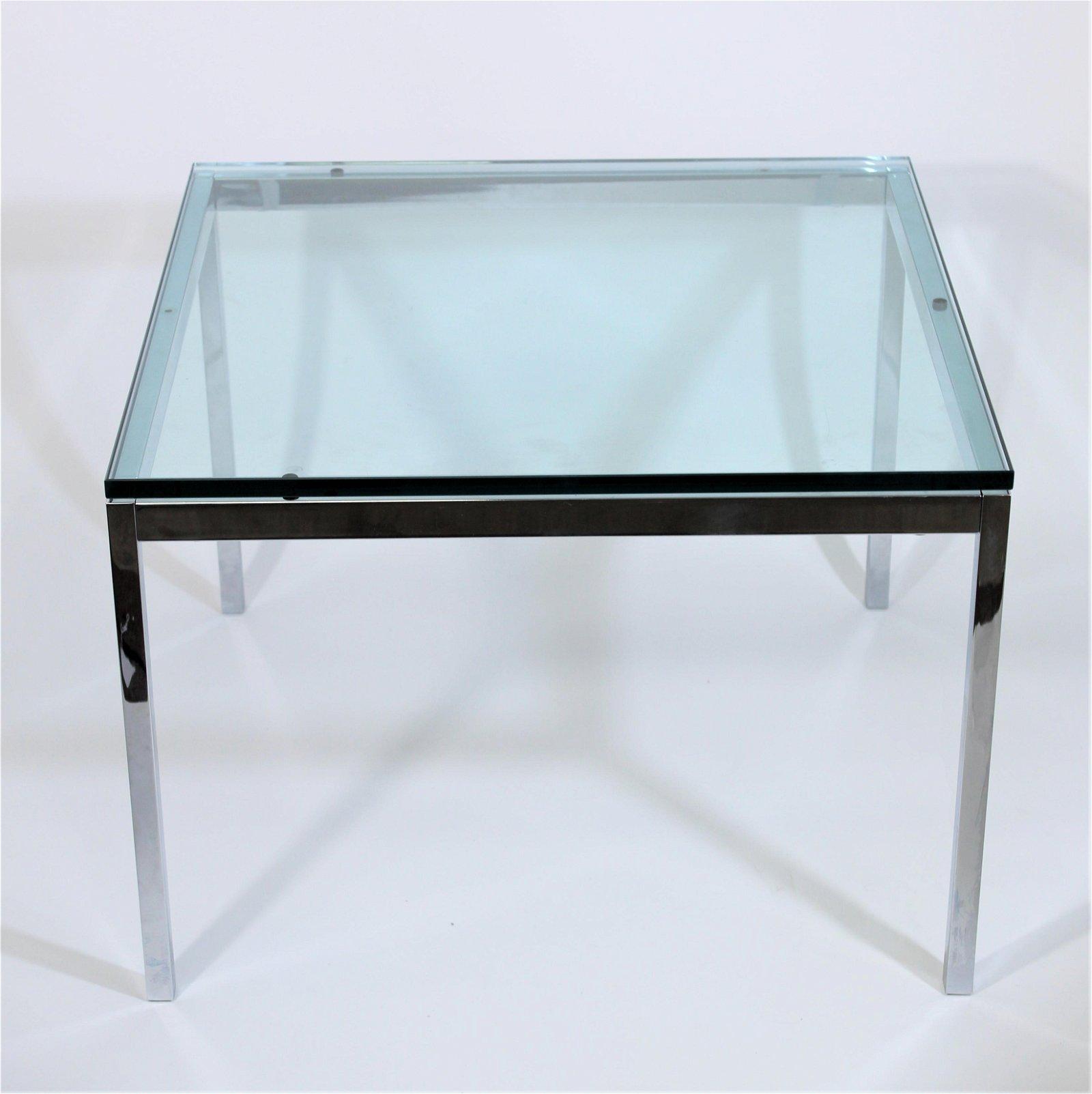 Florence Knoll Chrome & Glass Side Table