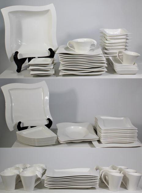 """Villeroy & Boch """"New Wave"""" Porcelain Dinner Set"""