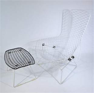 Knoll Bertoia Bird Chair and Ottoman