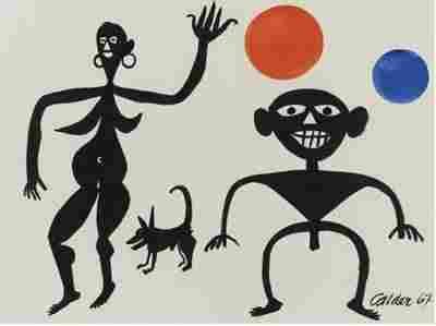 Alexander Calder (1898-1976) American,Gouache 1967