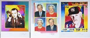 (3) Peter Max (1937 - ) German, Lithographs 2004