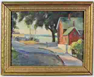 Frances Holmes, American, Oil on Board Early 1900s