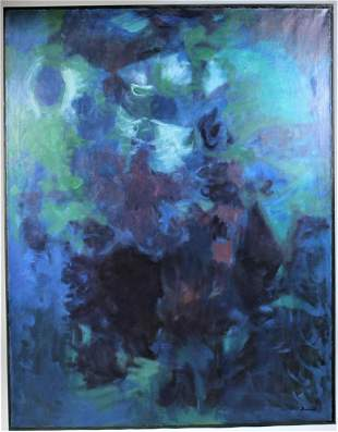 Elden Rowland (1915-1982) American, O/C