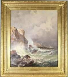 Edward Moran (English 1829-1901) O/C