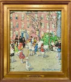Felicie Waldo Howell (1897-1968) American, O/B Painting
