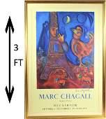 """Marc Chagall (1887-1985) """"Bonjour Paris"""" Signed"""