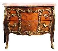 Impressive 19th C Louis XV Style Marble Top Bombay