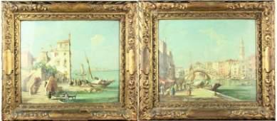 Pair of Venetian Scenes E Zeno 18 801956 OC