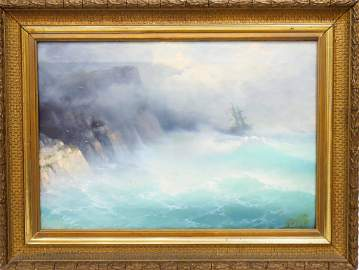Ivan Aivazovsky (1817-1900) Russian, Oil on Canvas