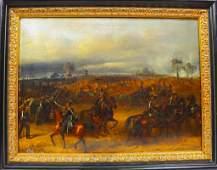 19th C Continental European Battle Scene OC