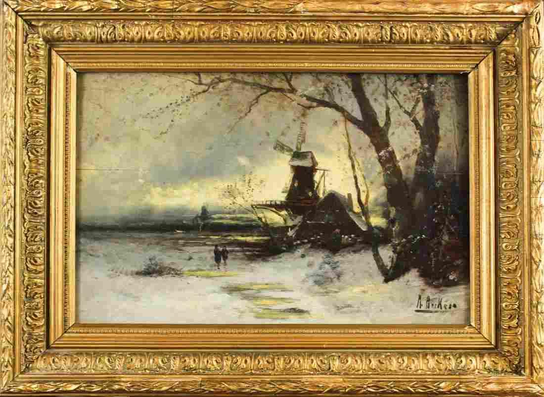 Antal Berkes (1874-1938) Hungarian, O/C