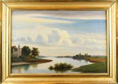American Hudson River School Oil on Canvas
