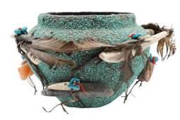 Edna Leki 19242003 Zuni Fetish Pottery Jar