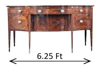 18th C New York State Serpentine-Front Sideboard