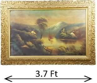 Victorian 19th Century Oil on Canvas