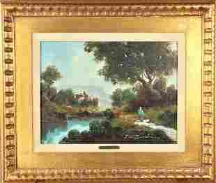 Toni Bordignon (b 1927) Fr/Amer, Oil on Canvas