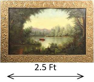 19th C. California Landscape, Signed Anne Crocker