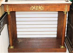 20th C. French Empire Console Table