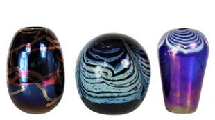 (3) Collection of Small Art Glass Vases