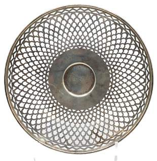 Sterling Silver Reticulated Plate, 6 OZT