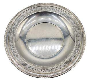Cartier Sterling Plate, 7.2 OZT.