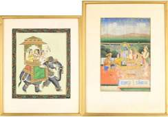 (2) Framed Indian Miniature Paintings